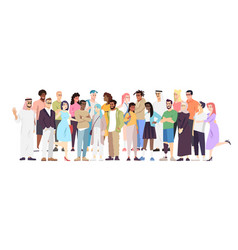demographic diversity flat different nations vector image