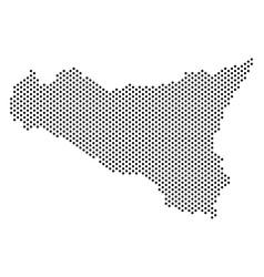 dot sicilia map vector image