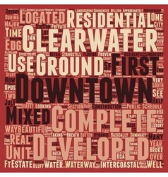Downtown Clearwater Boomtown USA text background vector