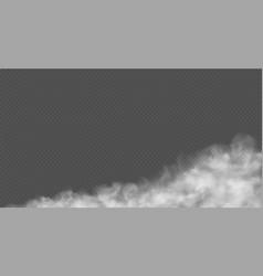 dusty cloud fog road dust urban smog white vector image