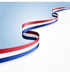 Dutch flag background vector image