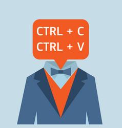 easy job worker vector image