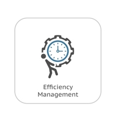 Efficiency Management Icon Flat Design vector image