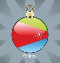 Eritrea flag on bulb vector image