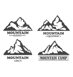 Exploration mountains with rocky peaks vector image