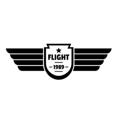 Flight 1989 logo simple style vector