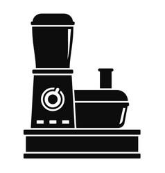 Food processor icon simple style vector