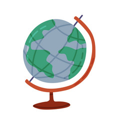 globe geography lesson equipment travel and vector image