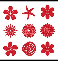 icon set flower vector image