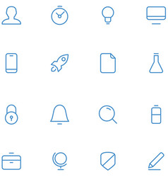 icons material design style vector image
