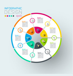 infographics on graphic art vector image