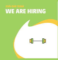 join our team busienss company gym rod we are vector image