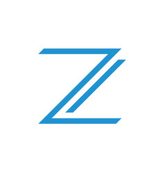 letters z simple geometric thin line logo vector image