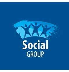 logo social group vector image