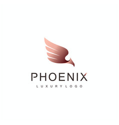 luxury phoenix bird logo vector image