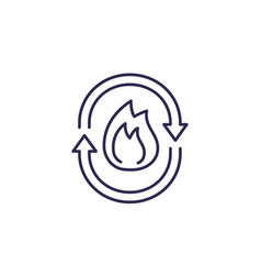 Metabolism line icon on white vector