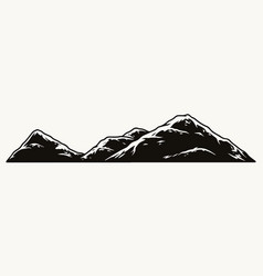 mountains scenery vintage monochrome concept vector image