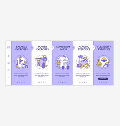 Muscle training onboarding template vector