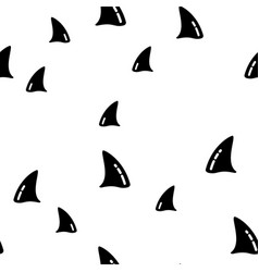 ocean killer shark whale seamless pattern vector image