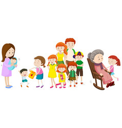 people at different ages in family vector image