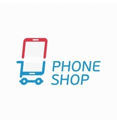 Phone shop logo vector image