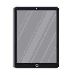 Pixel art style tablet gadget isolated vector image