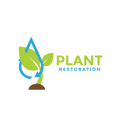 Plant restoration graphic design template vector