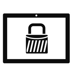 protected tablet icon simple style vector image