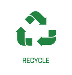 recycle sign green arrows isolated on white vector image