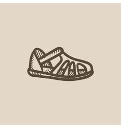 Sandal sketch icon vector image