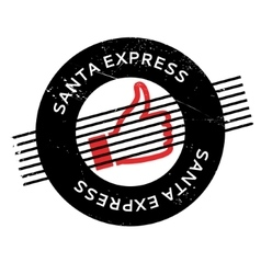 Santa Express rubber stamp vector
