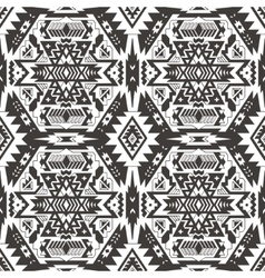 Seamless aztec pattern Ethnic monochrom vector image