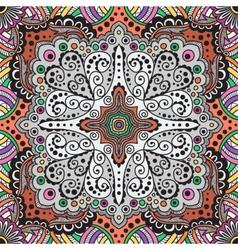 Seamless varicolored pattern of spirals vector