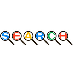 Search system icon concept magnified letters vector