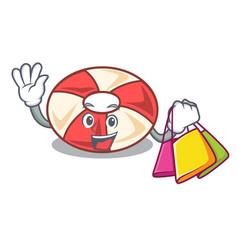 Shopping swim tube character cartoon vector