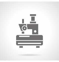 Single-thread sewing machine glyph icon vector image