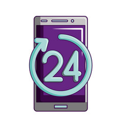 Smartphone service 24 hours delivery vector