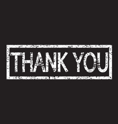 stamp text thank you vector image