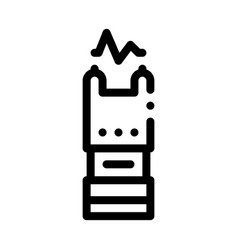 stunning electric shock icon outline vector image