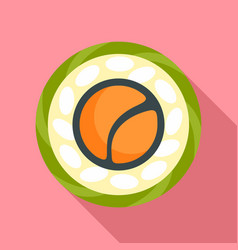 Top view sushi icon flat style vector