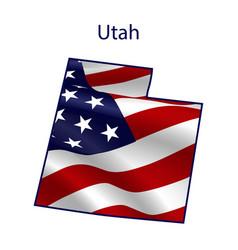 utah full american flag vector image