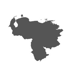 venezuela map black icon on white background vector image