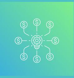 Venture capital concept vector