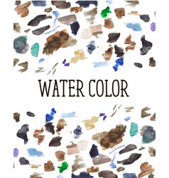 watercolor stains background color brush pattern vector image