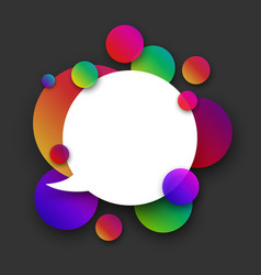 White speech background with colour bubbles on vector