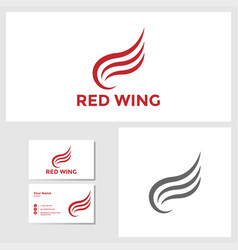 wing icon design template vector image