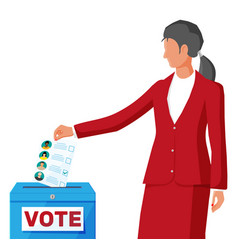 Woman on election vector