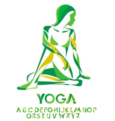 Yoga lord of the fishes pose vector