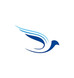 bird fly abstract aviation logo vector image vector image