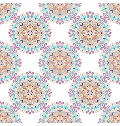 Blue Flower Pattern Round Ornament vector image